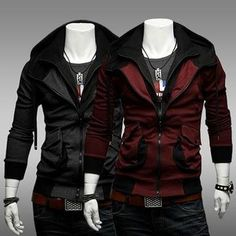 ZXFHZS Mens Large Size Zip Front Thickened Juniors Hoodie Parka Jacket