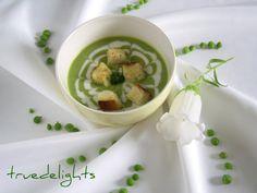 Reteta Supa crema de mazare verde de post din Carte de bucate, Retete de post. Specific Romania. Cum sa faci Supa crema de mazare verde de post