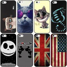 Per iPhone 5 s SE Caso USA UK Flag Disegno Dura Protettiva Cover Per Apple i Phone iPhone 5 5 S Posteriore Del Telefono Fundas Coque
