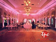 30 LED Up Lighting Fixtures at the Vinoy Sunset Terrace Ballroom -  love these pictures from our wedding. A day we will always remember... 05.11.13
