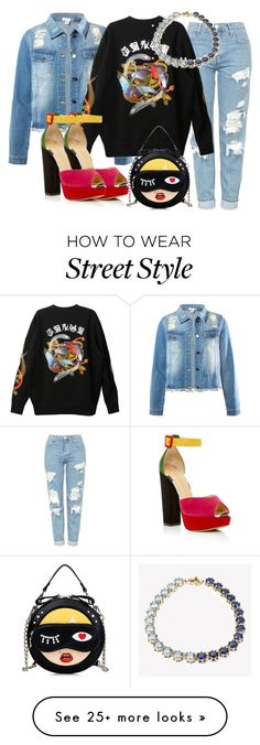 """""""Street Style"""" by ashantiannasmith on Polyvore featuring Topshop, Sans Souci, G.V.G.V. and Charlotte Olympia"""