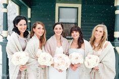 Modern Ukranian Winter Wedding. Bridal Party, Wedding Party, White Wedding, Wedding Bouquet, Shawl