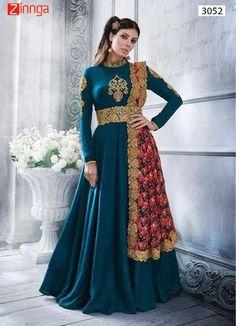 Women's Attractive Silk Salwar Kameez   #salwar #fashion #designer #zinngafashion #newarrival #latest #trendy #nicelooking