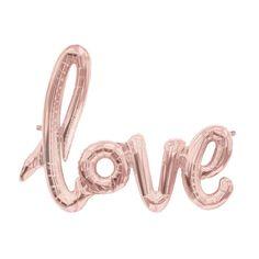 Love Script Mylar Foil Balloon - 40 inch