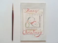 Christmas greeting card Behappycreation 5,00 Etsy
