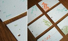 Letterpress Gift Tag Set from Good on Paper