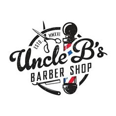 Logo concept for Uncle B's Barber Shop.