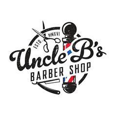 Logo concept for Uncle B's Barber Shop.