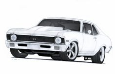 1972 Chevrolet Nova SS Pro Touring Drawing by Vertualissimo on DeviantArt