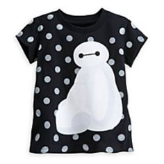 This Baymax Tee Shirt for Girls from Disney& Big hero 6 is absolutely precious with it& polka dot design and large image of the best nursebot in town. Polka Dot T Shirts, Big Hero 6 Baymax, Boy And Girl Cartoon, Girl Online, Young Fashion, Shirts For Girls, Boy Outfits, Tee Shirts, Clothes