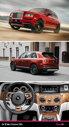 The most expensive Luxurious SUV in the world - Rolls Royce Cullinan - visit our website for more information, including pricing and cost. Best Luxury Cars, Luxury Suv, Rolls Royce Suv, Rolls Royce Cullinan, Lamborghini Gallardo, Ferrari F40, Large Suv, Suv Cars, Mercedes Benz Cars