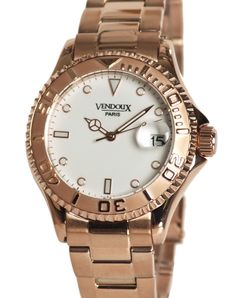 Vendoux unisex watch € 139,- for € 69,- Chic yacht master waterproof model with a great discount. www.megawatchoutlet.com