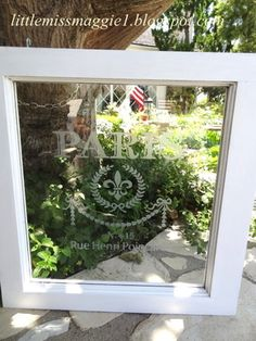 Faux Etched Window