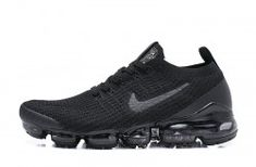 Cheap Nike Air VaporMax Flyknit Dark Blue/Red Running Shoes, The Nike VaporMax is a new running shoe from Nike. It features sock-like Plyknit uppers and a brand new Air Max sole. Nike calls it the lightest Air Max sneaker. Pink Running Shoes, Running Shoes For Men, Running Women, Running Sports, Nike Running, Baskets, Nike Pas Cher, Basket Noir, Nike Shoes Outlet