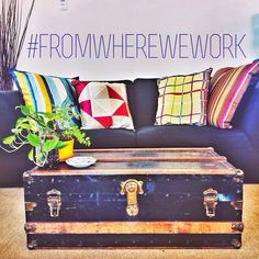 Colourful.. Comfy.. Creative? Check! Come join us over in New Westminster on our big comfy couch! #fromwherewework #thenetworkhub #hub #cowork #coworking #newwestminster #colourful #interior #silk #instadaily #instalike #instahub #instalove #love #comfy #couch #office #quayside