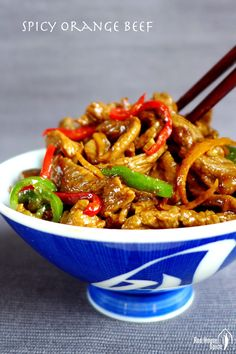 Spicy orange beef stir-fry (橙味牛肉) – Red House Spice #ChineseFoodRecipes