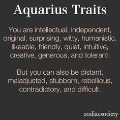 Moon in Aquarius. No wonder I'm so weird.