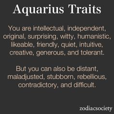 #Aquarius traits