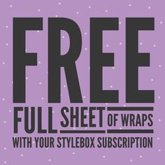 Today only 3/4/2015, get a full sheet of wraps with your Stylebox subscription from Jamberry Nails.  Have new Jamberrys sent every month with the hottest fashion trends. http://616crystall.jamberrynails.net/