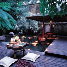 Como Shambhala; Ubud, Bali - The dishes at Glow restaurant combine bright flavors, crunchy textures and Balinese ingredients in preparations like king prawns with green mango, crispy garlic and shallot, or almond and chile pad Thai with coconut noodles.: