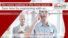 No need to stand in the long queue at DMV office as ABA auto registration provides best auto registration services from the comfort of your home. Just register online and enjoy amazing services without stepping out of your comfort zone.