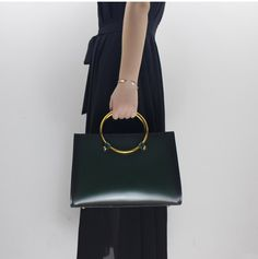 Handmade Genuine Leather Handbag Women Tote Bag Messenger Bag in Green 14146