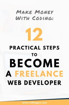 Want to learn programming and web development to make money online? Follow these practical steps to find out how to become a freelance Web Developer. Find out what skills you need and how to start building your web development portfolio. #mikkegoes #webdevelopment #freelancing #coding #programming #learncoding #webdev #tech