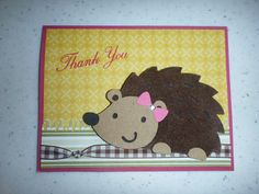 Cricut Thank You Card / I Used The (Create a Critter) Cartridge