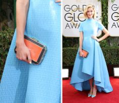 Caitlin-FitzGerald-Anya-Hindmarch-Shagreen-Duke-Clutch_facebook.com_oomph_BEST CLUTCHES FROM #GOLDENGLOBEAWARDS2014 http://on.fb.me/1aWmECc #Celebs #handbags #DesignerBags #oomphelicious