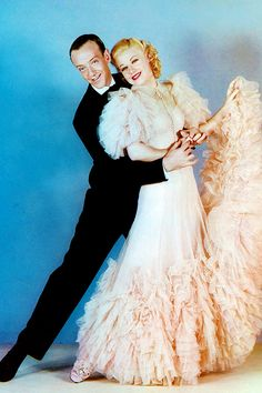 gingerrogerss: Fred Astaire and Ginger Rogers in a publicity still for the film Swing Time (1936)