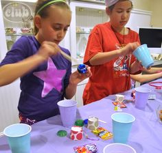 Girls will love to make homemade lip gloss as a slumber party craft. @clubchicacircle