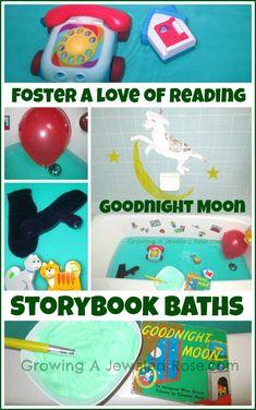 Goodnight Moon Storybook Bath  http://www.growingajeweledrose.com/2012/11/goodnight-moon-storybook-bath.html