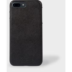 Paul Smith Black Saffiano Leather iPhone 7 Plus Case ($78) ❤ liked on Polyvore featuring accessories and tech accessories