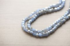 Electroplate Glass Beads - 30 pcs Light Blue Half Plated Faceted Glass Crystal Beads Loose Beads