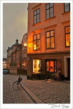 Evening in Gamla Stan, Stockholm, Sweden. Stockholm Old Town, Stockholm Sweden, Stockholm Travel, Places To Travel, Places To Visit, Travel Local, Shopping Travel, Le Palais, Palais Royal