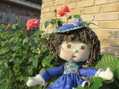 Hi!  I'm Susannah, a handmade rag doll.  I'm 32 inches tall and I can wear baby clothes.  It's fun adding to my wardrobe. by OutoftheSewingBox on Etsy