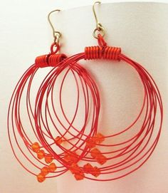 Tangerine Tango Orbits Earrings on Etsy, $28.00