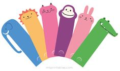 Give these to your children as they read great books this summer........Free Printable Bookmarks for Children | MrPrintables.com