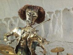 Escultura metales cobre bronce alpaca plata