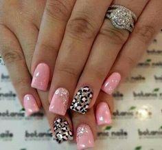 #nails #black #pink