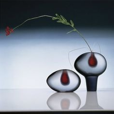 Two Vases and Flower 1985, Robert Mapplethorpe