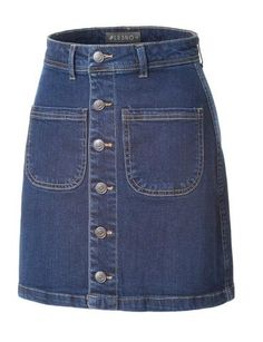 This high waisted button up denim midi pencil skirt is the new basic that every woman should own. Made from a lightweight and stretchy material for comfort, this skirt goes perfectly with crop tops or blouses. Wear it from day to night by pairing it with sexy heels. Feature 70% Cotton / 19% Polyester / 9% Tencel / 2% Spandex Lightweight, stretchy material for comfort 5 Button up closure / Belt loops Features 5 pocket style / Back center slit Machine wash cold inside o...