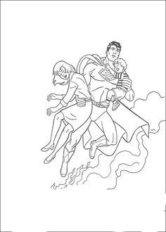 Superman Fargelegging. Tegninger 25