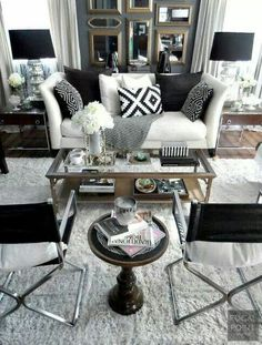 White and black livingroom