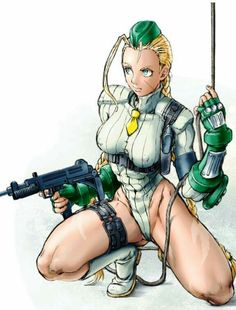 Anime girl. Cammy White. Street Fighter