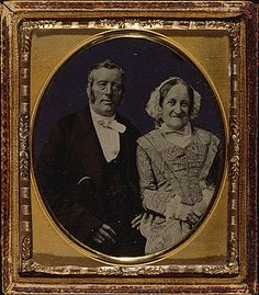 early pioneer families arkansas | UNKNOWN PHOTOGRAPHER | Pair of studio portraits of young and old ...