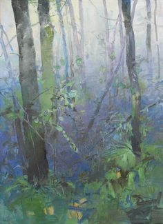 Randall David Tipton  Rainforest Spring  oil on canvas 30x22