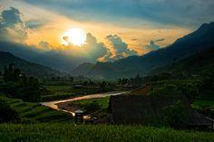 Sunset in Sapa Vietnam