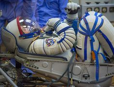 Expedition 37/38 Russian Flight Engineer Sergey Ryazanskiy has his Russian Sokol suit pressure checked ahead of his launch onboard a Soyuz TMA-10M spacecraft to the International Space Station with fellow crewmates NASA Flight Engineer Michael Hopkins and Soyuz Commander Oleg Kotov, on Wednesday, Sept. 25, 2013, in Baikonur, Kazakhstan. Launch of the Soyuz rocket will send the Expedition 37/38 crew on a five-month mission aboard the International Space Station. Photo Credit: (NASA/Carla…