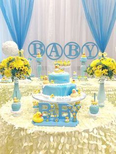 Rubber Duckies Baby Shower | CatchMyParty.com